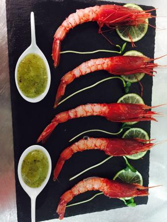 Carpaccio di gamberi rossi di Porto Santo Spirito